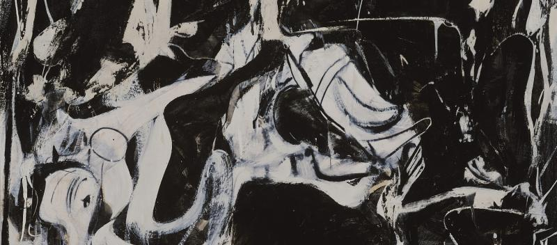 Willem de Kooning, Black Untitled (Schwarz Ohne Titel), 1948, Metropolitan Museum of Art, From the Collection of Thomas B. Hess, Gift of the heirs of Thomas B. Hess, 1984 (1984.613.7)